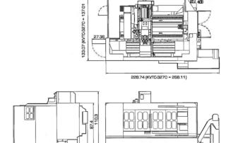 Kent CNC Traveling-Column-Machining-Center-Floor-Dimensions