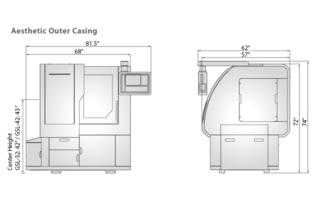 GSL Gang Style Lathe Machine Dimensions 1