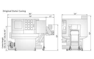 GSL Gang Style Lathe Machine Dimensions 2